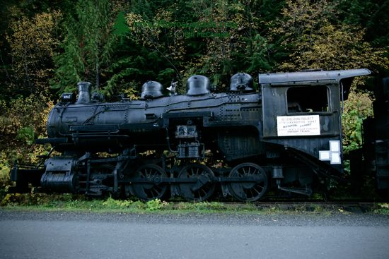 Sandon Ghost Town, Steam Train, West Kootenays, British Columbia, Canada CM11-006