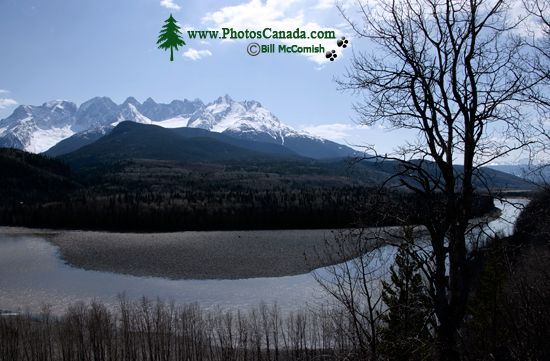 even Sisters Mountain Range, Skeena River, British Columbia, Canada, CM11-005