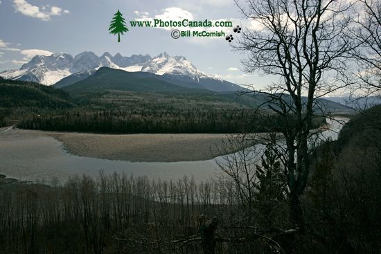 even Sisters Mountain Range, Skeena River, British Columbia, Canada, CM11-006