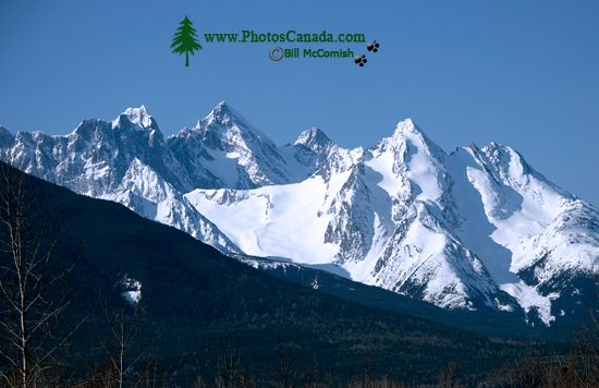 even Sisters Mountain Range, Skeena River, British Columbia, Canada, CM11-008