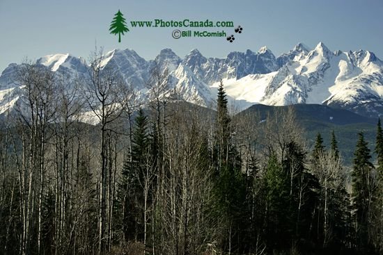 even Sisters Mountain Range, Skeena River, British Columbia, Canada, CM11-009