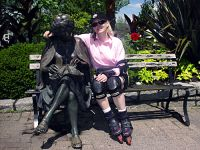 Old Lady Sculpture, and Sue, Stanley Park, Vancouver, British Columbia, Canada 01