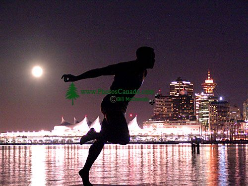 Harry Jerome Statue, Stanley Park, Vancouver, British Columbia, Canada 07