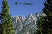 Highlight for Album: Steeples Mountain Range, Norbury Park, British Columbia Stock Photos
