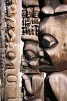 Gitanyow (Kitwanyou) Totem Poles, Nass Valley, Northern British Columbia, Canada CM11-06