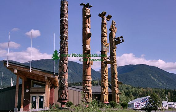 New Aiyansh Totem Poles, Nass Valley, Northern British Columbia, Canada CM11-01