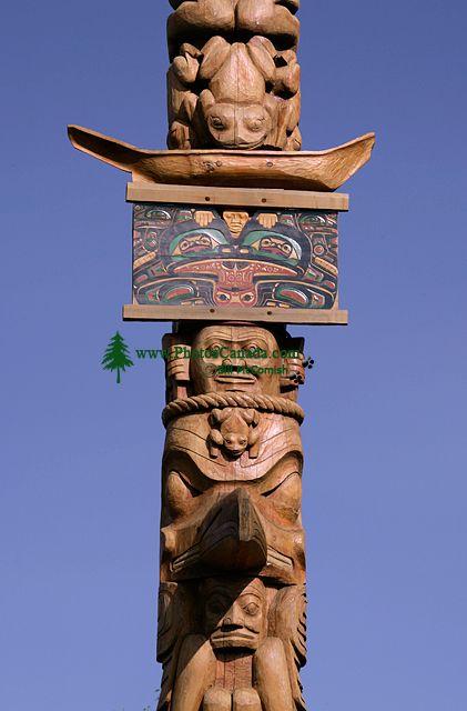 New Aiyansh Totem Poles, Nass Valley, Northern British Columbia, Canada CM11-03