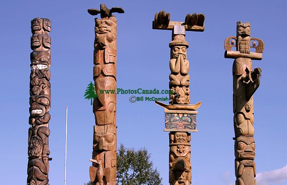 New Aiyansh Totem Poles, Nass Valley, Northern British Columbia, Canada CM11-02