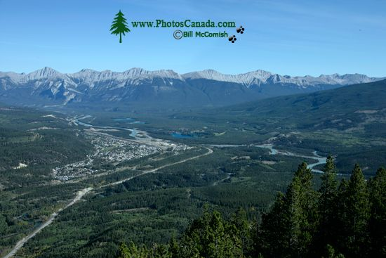 Town of Jasper, Athabasca River, Jasper National Park, Alberta CM11-01