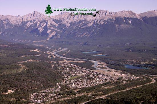 Town of Jasper, Athabasca River, Jasper National Park, Alberta CM11-02
