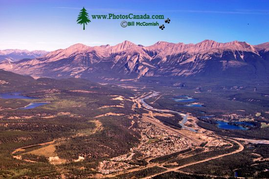Town of Jasper, Athabasca River, Jasper National Park, Alberta CM11-05