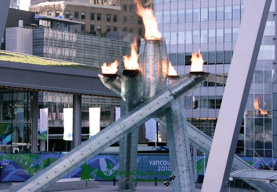 Vancouver 2010 Olympic Cauldron, British Columbia, Canada CM11-02