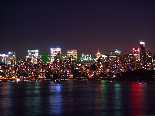 Vancouver Night, Skyline, British Columbia, Canada  07