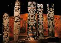 Royal BC Museum, Coast Salish Totem Poles, CM11-12  See Also: www.photoscanada.com/gallery/royal_bc_museum_victoria
