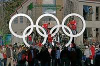 Highlight for Album: Whistler Village Scene 2010 Olympics, 2010 Olympic Stock Photos