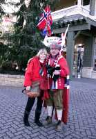 Whistler Village 2010 Olympics, Norway Supporter and Fan, British Columbia, Canada CM11-24