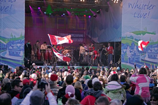 Whistler Village Concert, 2010 Olympics,  British Columbia, Canada CM11-14