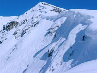 Snowboarder, Couloir Extreme, Whistler, British Columbia, Canada 01
