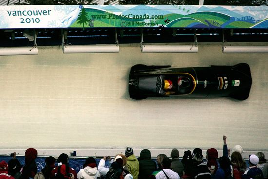 Whistler 2010 Olympics Sliding Centre, Germany Bobsled, British Columbia, Canada CM11-05